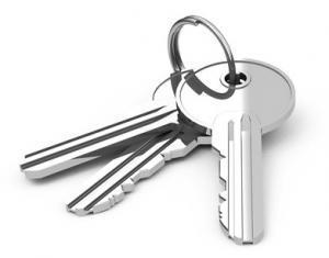 Schlüsselbund mit Schlüssel